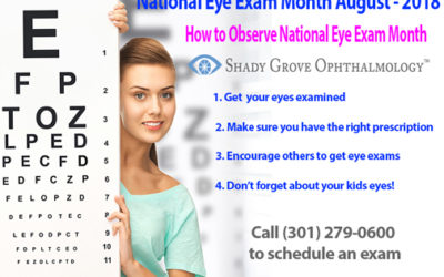 National Eye Exam Month – August