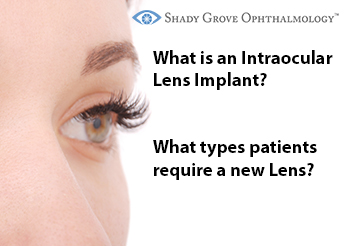 What is an Intraocular Lens Implant? What types of patients require a new Lens?